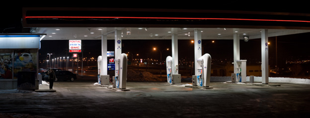 A service station that doesn't illuminate neighbouring properties!