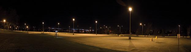 L'éclairage des stationnements et des aires commerciales