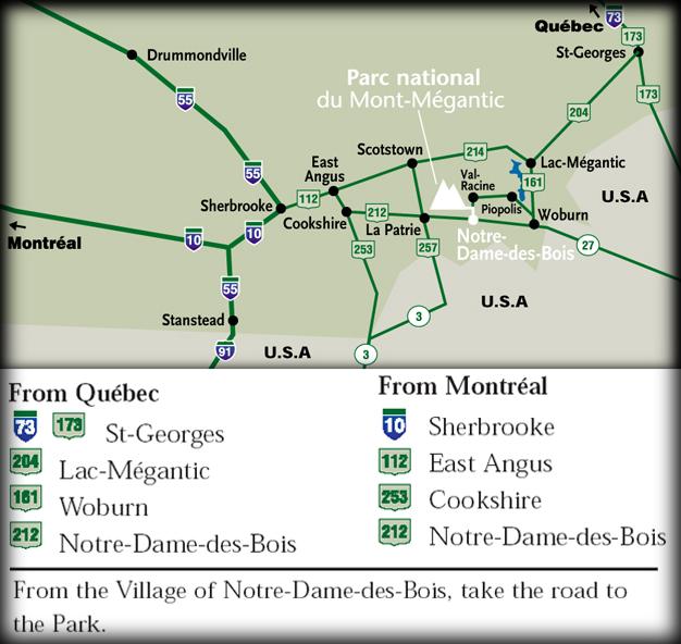 Mont-Mégantic National Park Direction