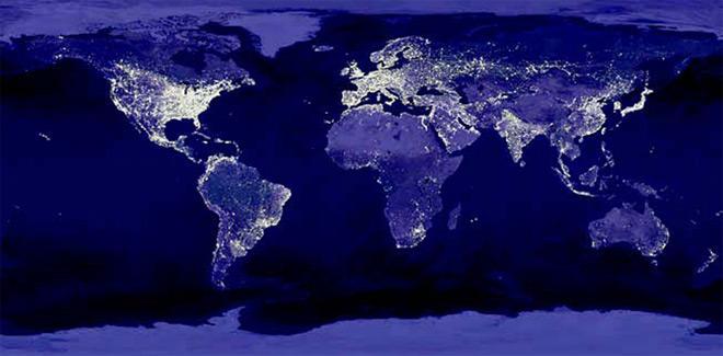 Carte Du Monde Lumineuse.Un Probleme D Envergure Mondiale Astrolab Du Parc National